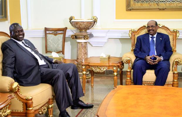 Omar al-Bashir et Riek Machar