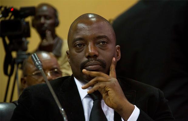 ISAAC KASAMANI [AFP] - Le Président de la République démocratique du Congo Joseph Kabila pendant la Conférence Internationale sur la région de Great Lakes le 5 septembre 2013, à Kampala
