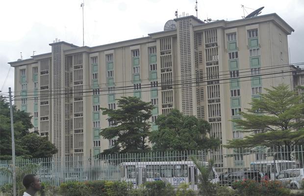 Immeuble abritant la Direction générale de l'ex-OFIDA à Kinshasa-Gombe
