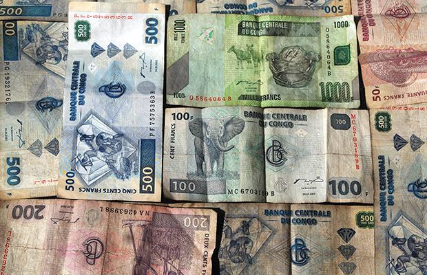 Les coupures du Franc congolais