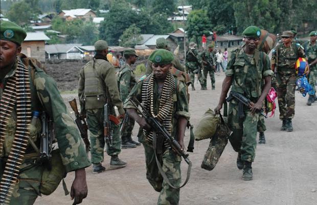 Des éléments des FARDC au Nord-Kivu