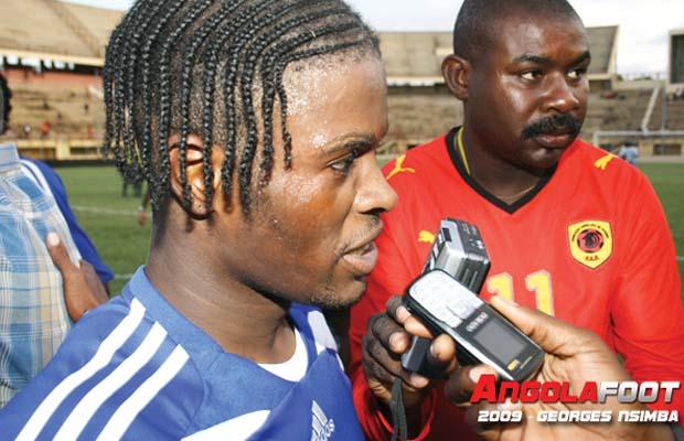 Tresor Mputu, actuel attaquant de Kabuscorp en Angola