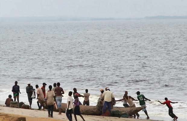 Moanda, cité côtière de la RDC, (photo radio Okapi)
