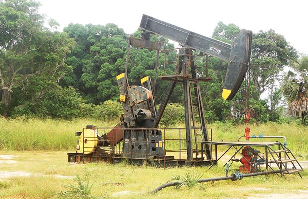 Un puit d'exploitation pétrolière de Moanda dans la province du Bas-Congo, (photo Radio Okapi)