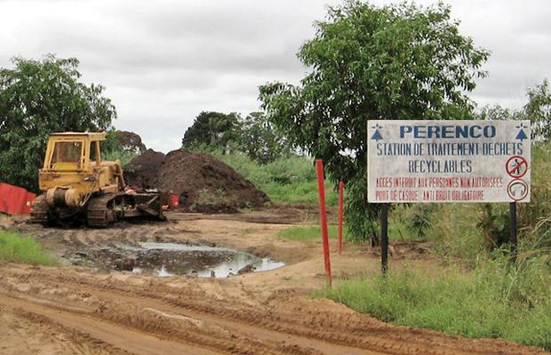 Une station de traitement des déchets de Perenco, (photo Radio Okapi)