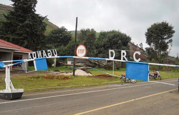 Bunagana, poste frontalier entre la RDC et l'Ouganda