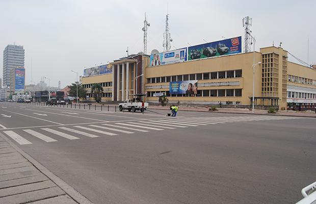 Le bâtiment de la Direction générale de la SCPT, à Kinshasa-Gombe.