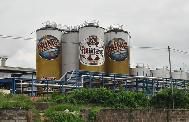 L'usine de la société brassicole congolaise Bralima à Kinshasa. (Photo BEF)