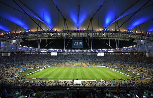 Une vue intérieure du stade Maracana de Rio qui va acceuillir la finale de la Coupe du monde 2014. (Photo AFP)