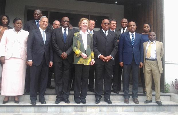 Les envoyés spéciaux avec le Haut représentant du chef de l'Etat et le Coordonnateur du MNS