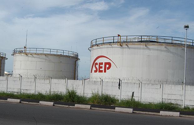 Une vue du parc de stockage des produits pétroliers à SEP-Congo