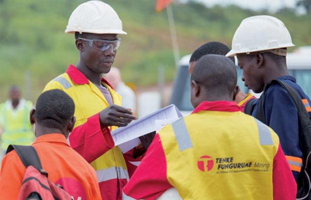 Des ouvriers de Tenke Fungurume Mining
