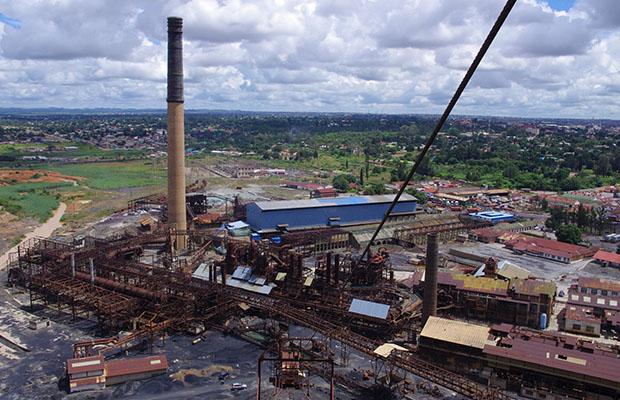 Une vue aérienne des installations de la Gécamines au Katanga. (Photo DR)