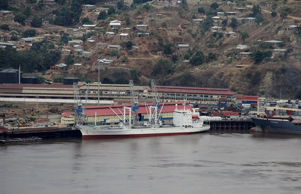 Une vue du port de Matadi. (Photo Radio Okapi)