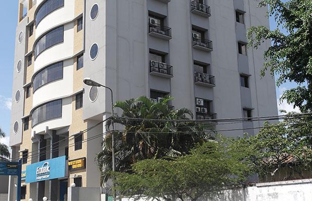 Siège d'une banque commerciale à Kinshasa. (BEF)