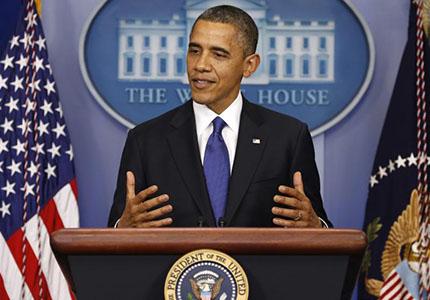 feature__0016_12_01 – Le président américain, Barack Obama, lors d'un discours sur la fiscalité, à la Maison Blanche, en