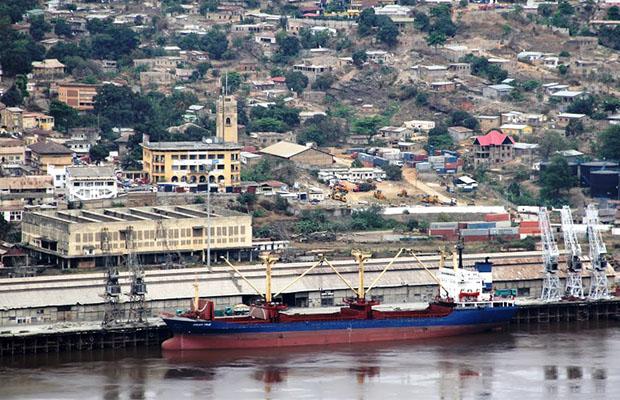 Une vue du port de Matadi. (DR)