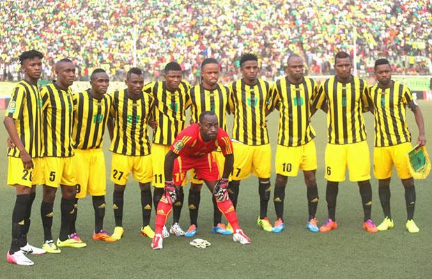 L'AS Vita Club au stade Tata Raphaël de Kinshasa, lors du match contre Al Hilal du Soudan.