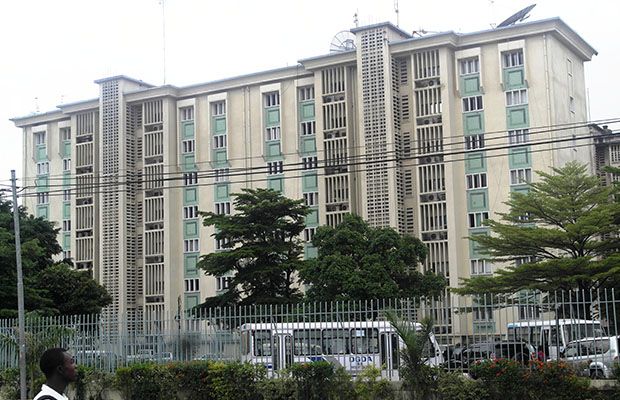 Le siège de la Direction générale des douanes et accises, dans la commune de la Gombe.