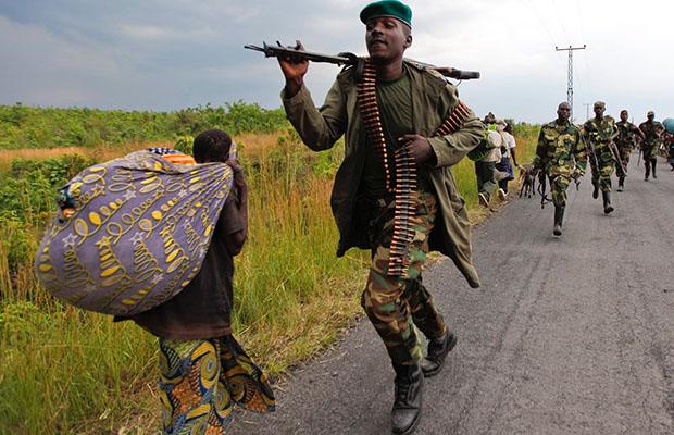 Des hommes du M23 au cours de leurs opérations dans le Nord-Kivu en 2013.