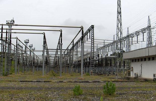 Poste de dispersion d'Inga d'où part l'électricité vers les lignes à haute tension  A (HTA).