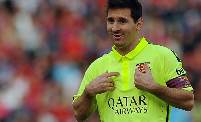 Lionel Messi, attaquant du FC Barcelone.