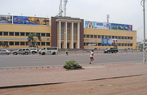Le siège de la Société congolaise des Postes et Télécommunications à Kinshasa-Gombe.