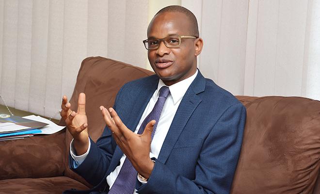 Maker Mwangu Famba, ministre de l'Enseignement primaire, secondaire et professionnel.