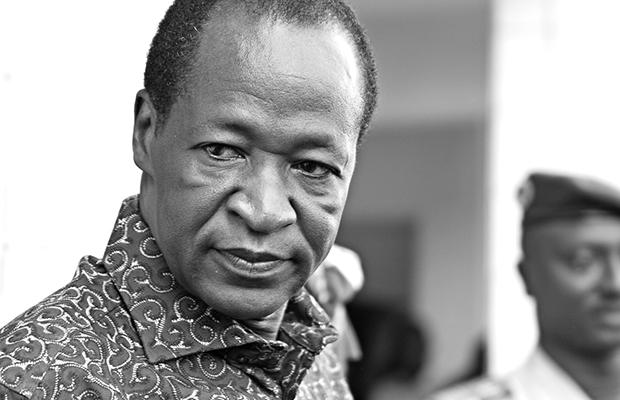 Blaise Compaoré, ex-président du Burkina Faso, à Ouagadougou en 2010.