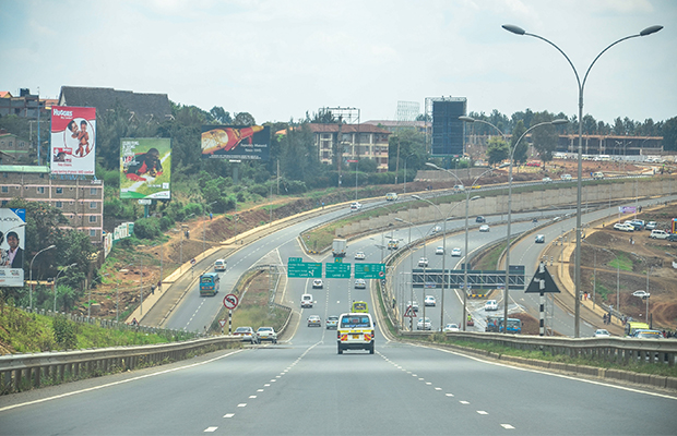 Uhuru highway à Nairobi, au Kenya. Un des multiples projets d'infrastucture financés par la BAD.