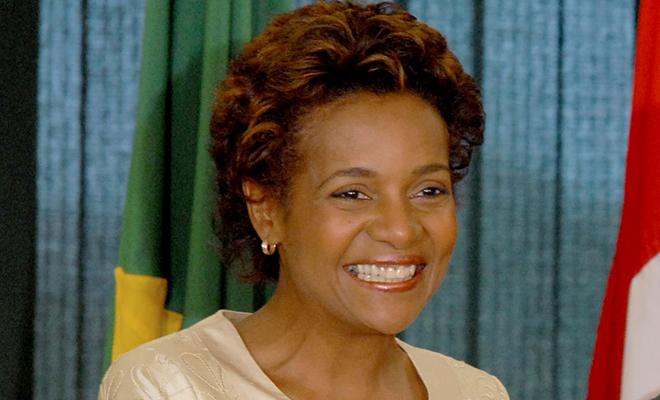 La Canadienne d'origine haïtienne Michaëlle Jean, élue secrétaire générale de l'OIF, le 30 novembre 2014.