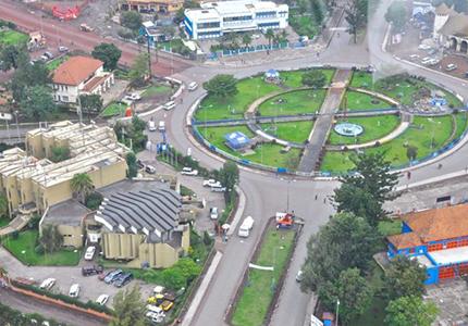 feature__0014_17_1. argent et patrimoine, Vue aérienne de la ville de Goma chef-lieu du Nord-Kivu.